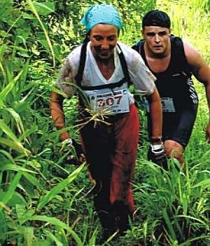 Jungle raiders: downhill is tougher than uphill
