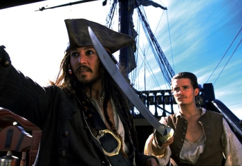 Freedom, adventure: Johnny Depp, Orlando Bloom