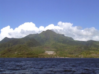 Peak of a Caribbean holiday: Mt. Pelée volcanoe in Martinique