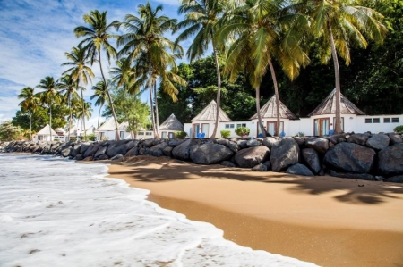 Beach and beach bungalows