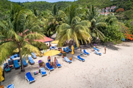 Aerial view of Beach Cabana