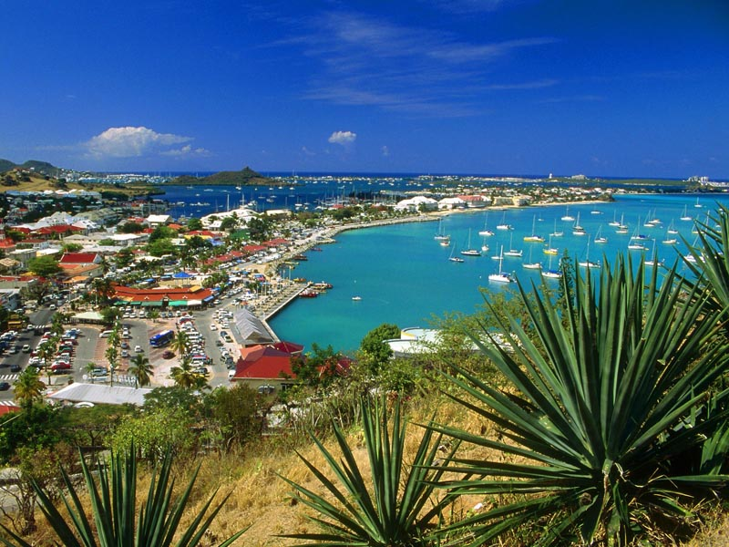 Bay Of Marigot The Capital French Part St Martin